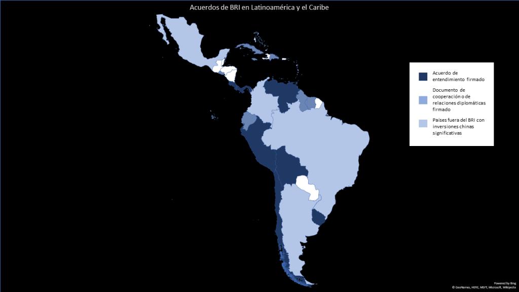 Países latinoamericanos que han firmado un acuerdo dentro del margen de BRI
